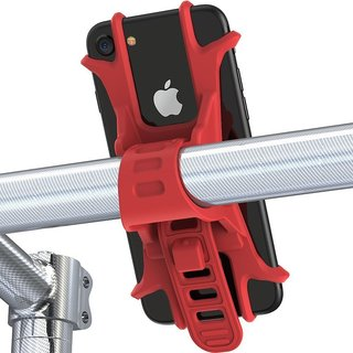 Aeoss Universal Bicycle Phone Holder Silicone Elastic Band Handlebar Bracket Support Bicycle Motorcycle Mount for iPhone
