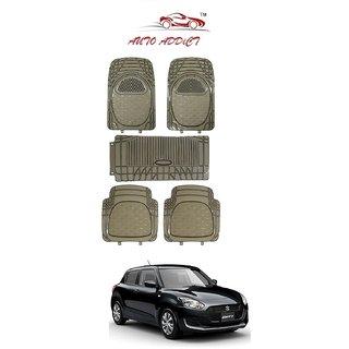 Auto Addict Car Rubber PVC Car Mat 6204 Foot Mats Smoke Color for Mahindra XUV 500