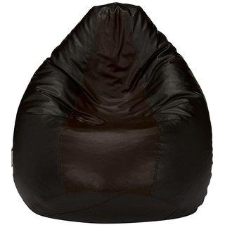 Sky Homes 1Pc. Rexin XXXL Size Black Color Bean Bag Sofa Chair (Without Beans)