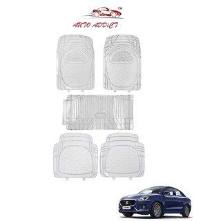 Auto Addict Car Rubber PVC Car Mat 6205 Foot Mats clear Color for Honda New City