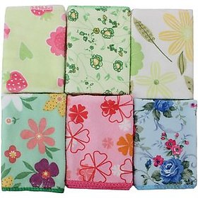 Bhawna Furnishing 200 GSM Pack Of 6 Face Towel