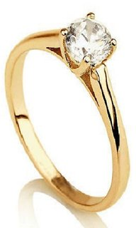 Natural Diamond Ring lab certified Gold Plating Ring Jaipur Gemstone