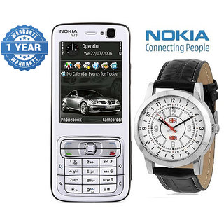 Nokia N73 / Good Condition/ Certified Pre Owned (1 Year Warranty) with Branded Watch