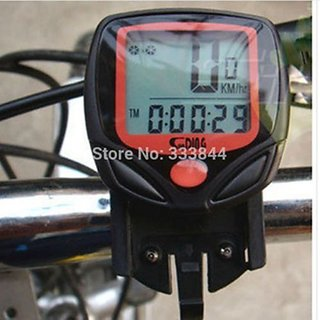 Waterproof Auto On/off Odometer Bicycle Bike Speedometer With Digital LCD  Display
