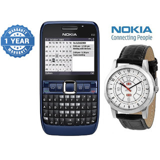 Nokia E63 / Good Condition/ Certified Pre Owned (1 Year Warranty) With Branded Watch