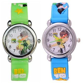 BEN-10 KIDS GREEN AND BLUE WATCHES COMBO