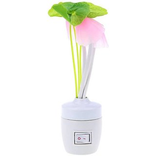 SK Enterprises Creations Color Changing Mushroom Flower LED Light with Auto Sensor Night Lamp  (13.4 cm, Yellow)