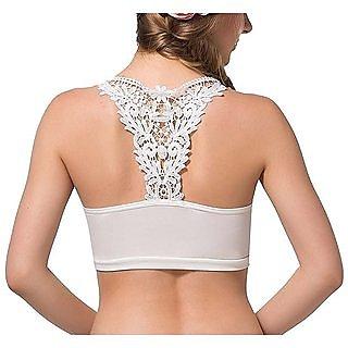 5acc7b5f1b Buy DeVry White Colors LowBack Dresses Bralette Padded Bra For Girl ...