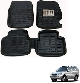 Auto Addict Car 3D Mats Foot mat Black Color for Tata Safari