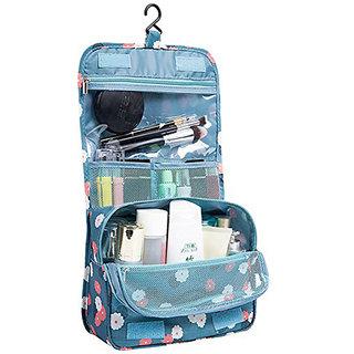 fb150981fc17 Seajol Travel Toiletry Bag Organizer and Dopp Kit Hanging Bag Travel  Toiletry Kit (Blue)