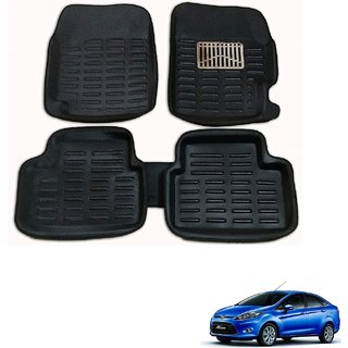 Auto Addict Car 3D Mats Foot mat Black Color for Ford Fiesta