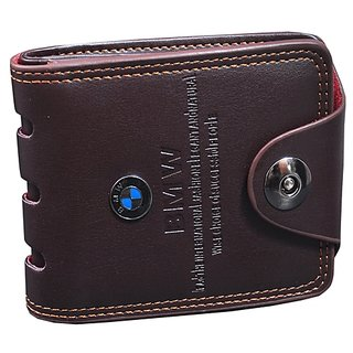 Y GREEN Men's PU leather Brown Bi-fold Wallet (Synthetic leather/Rexine)