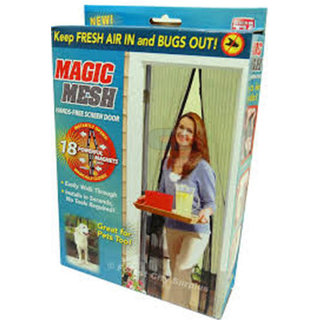 Magic Mesh Single Door PVC Curtain ( Easy out / Easy In) ( Solves Mosquito Problem)