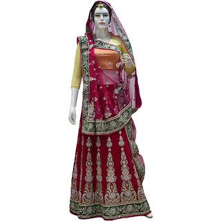 Indians Boutique Designer Lehenga (Dark Pink)