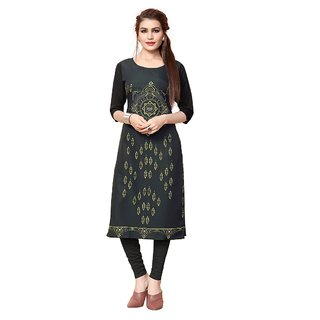 Women's Digital Printed American Crepe Straight cut Kurti101