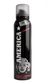 America Black With White Body Spray For Women 150ml