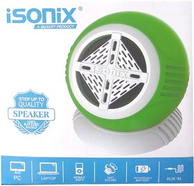 iSonix Rechargeable Mobile Speaker For Pc/Mobiles/Laptops/iPods/Mp3/Mp4 Players With Volume Control