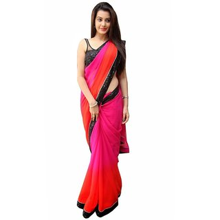 Florence Multicolor Embroidered Saree with Blouse