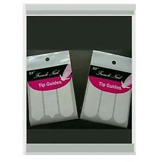 2 pack of Nail Art french Tip Guides sticker in Different shapes