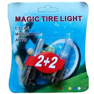 New MAGIC Flashing Flash Wheel Lights For All Bikes Cars Set of 2