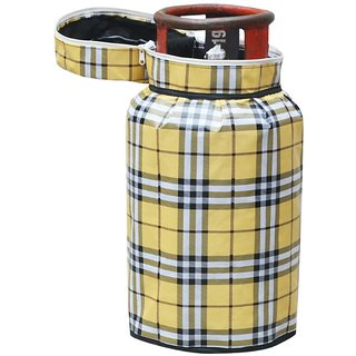 Choco Yellow Check Cilinder Cover Pack of 1