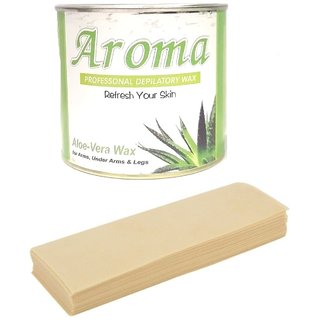 AROMA aloe veeera  Wax with 50 Waxing Strip