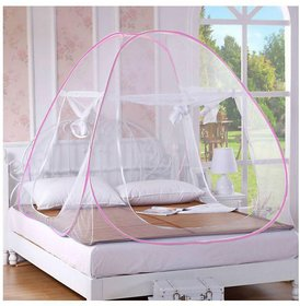 Foldable Double Bed Pink Mosquito Net