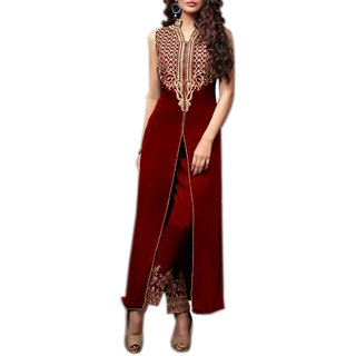 Designer collection Women's Georgette Semi Stitch Anarkali Salwar Suit