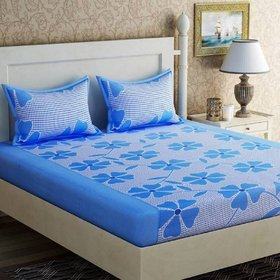 Choco Blue Frooti Double Bedsheet Pack of 1