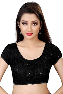 Holyday Fashion New Party Wear Designer Full Stitched Ready Made Blouse For Women in Black Color