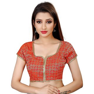 bf7afce7ce2dc Buy Holyday Fashion New Party Wear Designer Full Stitched Ready Made Blouse  For Women in Orange Color Online - Get 52% Off