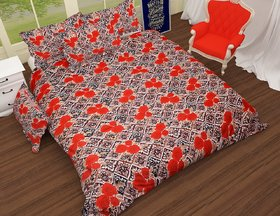 Choco Small Red Rose Bedsheet pack of 1