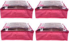 Bulbul Pink Saree Covers - 4 Pcs