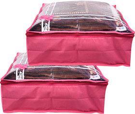 Bulbul Pink Saree Covers - 2 Pcs
