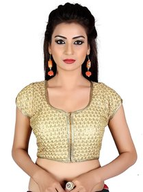 Holyday Fashion New Party Wear Designer Full Stitched Ready Made Blouse For Women in Gold Color