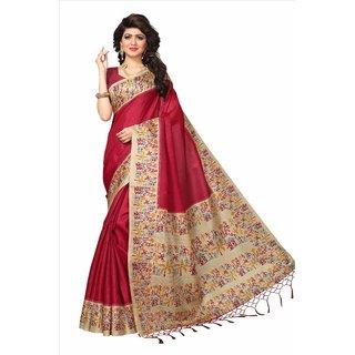 cbf3b1d74 Buy Printed Mysore Art Silk Saree (Red) Online - Get 73% Off
