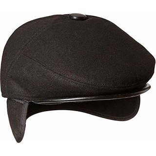 black Golf Cap with earmuff - Pack Of 1
