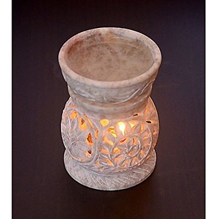 Skyman Handcrafted Stone Aroma Lamp Oil Burner Diffuser Air Freshener in 3.5 inch