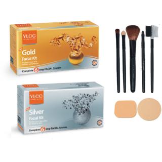 VLCC Gold + Silver Facial Kit Combo