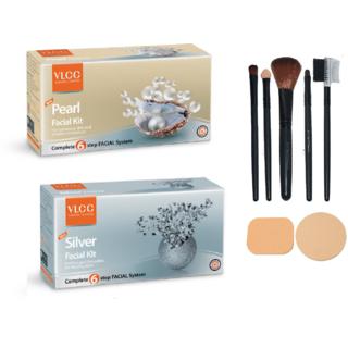 VLCC Pearl + Silver Facial Kit Combo