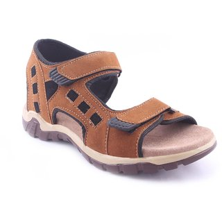 34ad9cae3912 Buy RU SHOES COMFORTABLE STYLISH BROWN VELCRO SANDALS FOR MEN DAILY ...