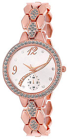 Varni Retail Round S Rose Gold Diamond Women VR