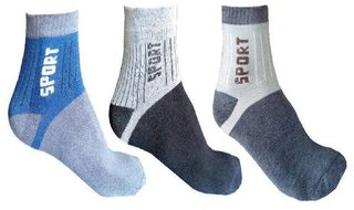 Fashion Village Sports Socks Pack of 3 Assorted Design