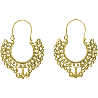 Cemaya Designer Hoop Earrings For Women (Gold)