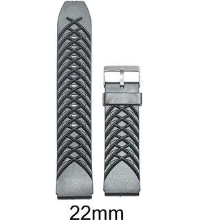 Like 22 mm PVC Watch Strap (Black)