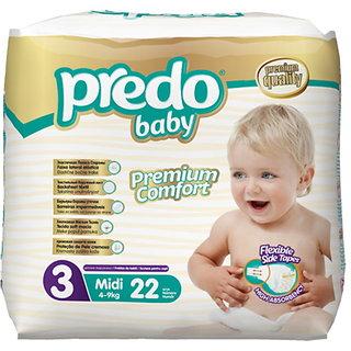Predo Baby MIDI Eco Pack - 4-9 Kg 22 Pcs