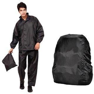Grey Rain Suit + Backack Cover
