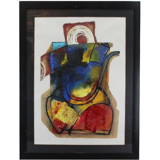 The Home Ganeshji Wall Mount Painting Black Colour 34 8x26 8 Inch