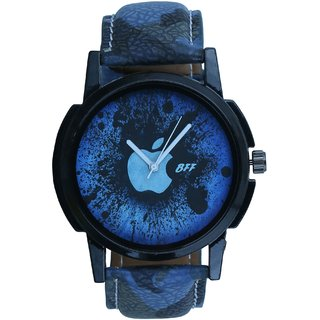 Gujju Rocks Round Dail Blue Synthetic Strap Quartz Watch For Men