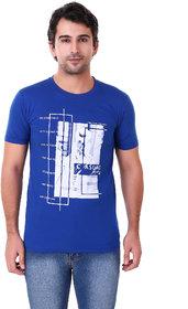 US Pepper Royal Blue Casual T-shirt